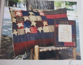 Flag Pillow and Embroidery Sewing Pattern