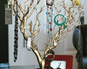 "30"" Gold Painted Jewelry Tree / Jewelry Organizer"