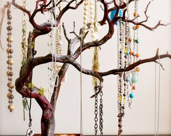 "30"" Red Jewelry Tree / Jewelry Organizer for East coast customers"