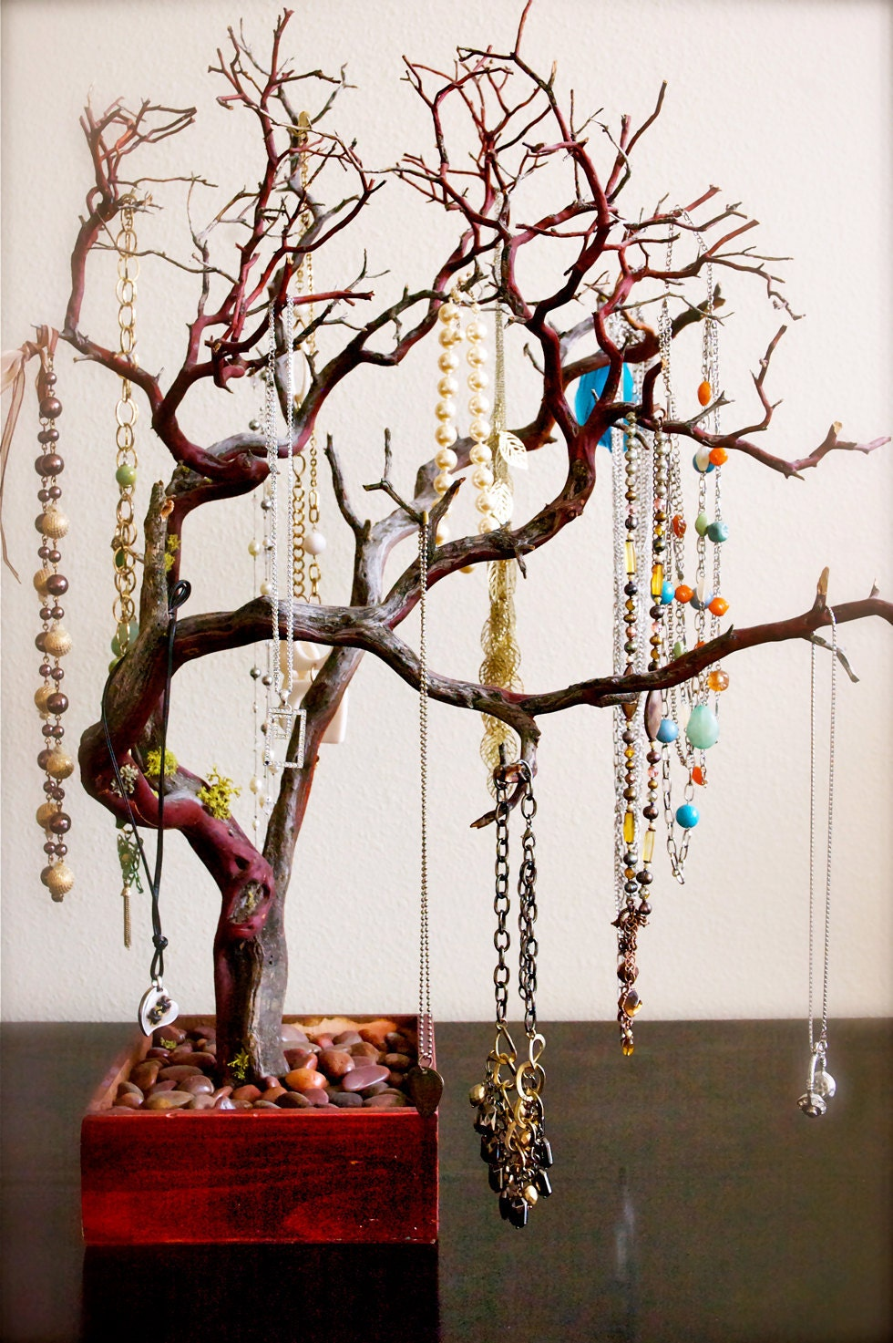 30 red jewelry tree jewelry organizer for east coast ForTree Branch Jewelry Holder