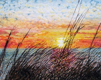 Lake Michigan Sunset - LIMITED - Free shipping USA - SALE - Featured Item  2011 Grand Haven Fines Arts Poster Winner