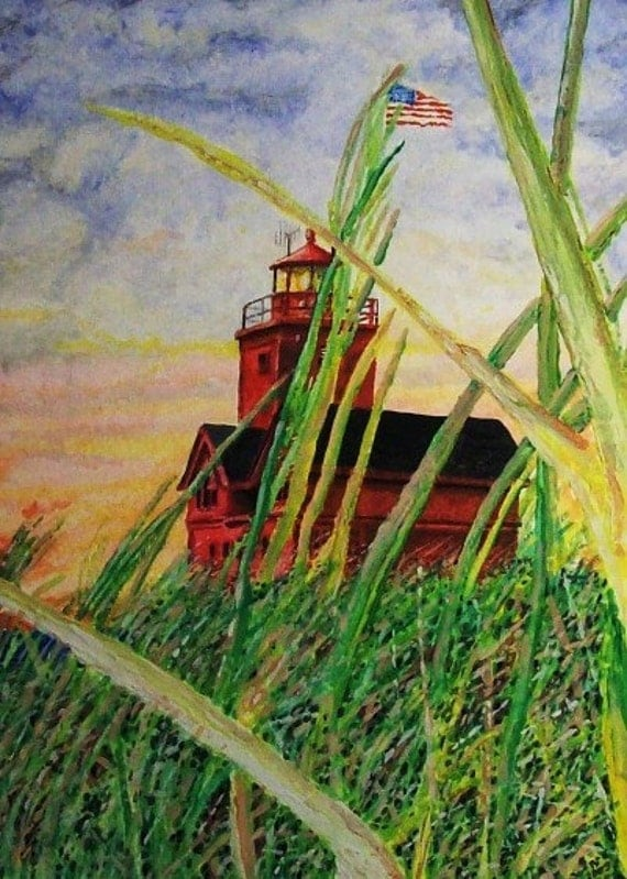 Holland Michigan Lighthouse - LIMITED - Free shipping USA - SALE