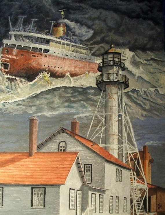 Edmund Fitzgerald Near Whitefish Point Michigan - LIMITED - Free shipping USA - SALE - Featured Item