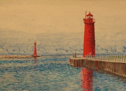 Muskegon Michigan Lighthouse Limited Free Shipping Usa