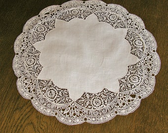 Awesome Antique Large Doily