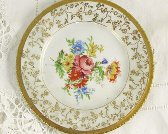 SALE- reduced from 46USD  Antique Porcelain Spanish Dish from Santa Clara - Shabby chic