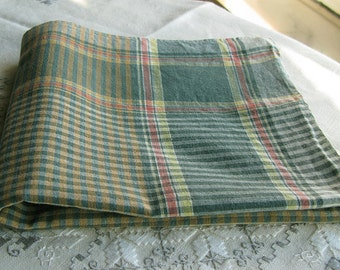 Large Antique tea towel - dish towel or Small Tablecloth / Topper