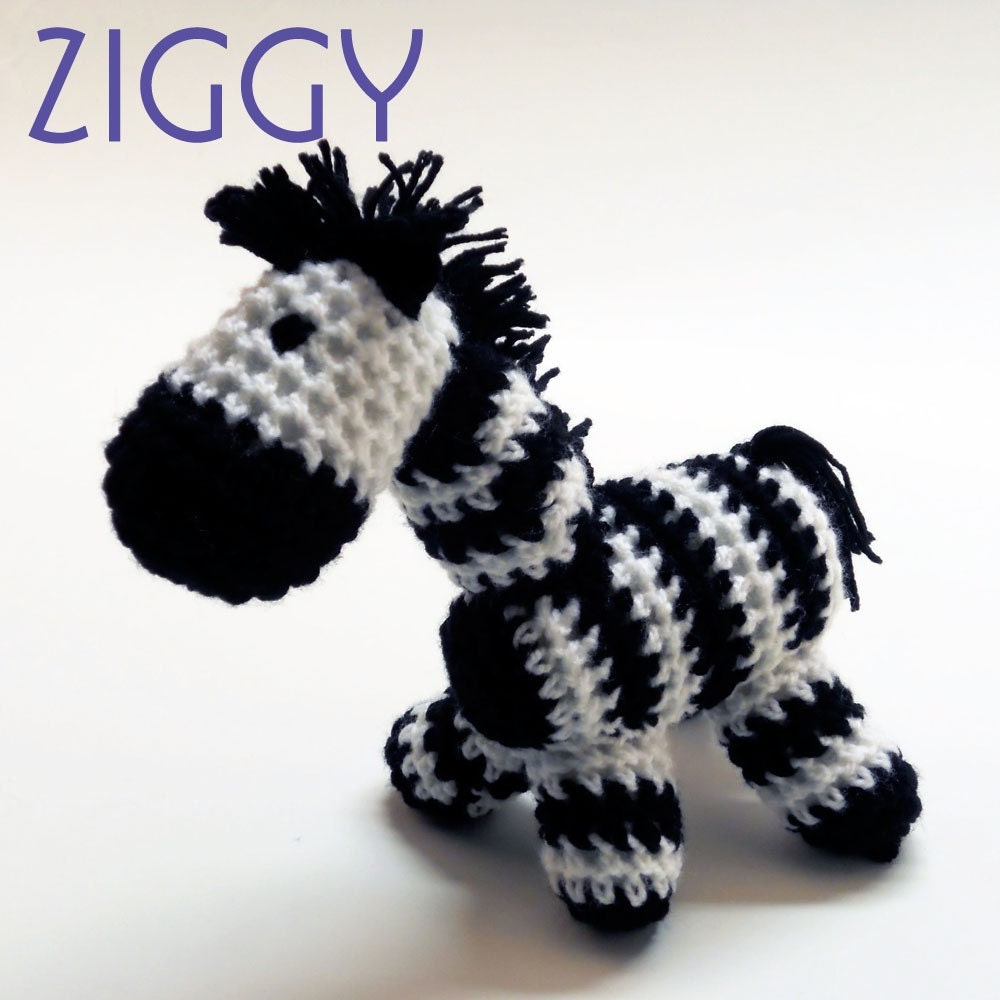 Free Crochet Zebra Patterns : Crochet Amigurumi Pattern Crochet Animal Zebra By Eightnana Review ...