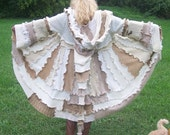 Gypsy Sweater Coat Pattern---- tutorial W/ PATTERN Pieces on how to make this elusive beauty-----Long  Elf Hood