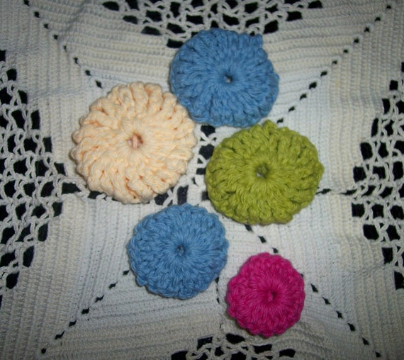 Crochet Yoyos : Items similar to Crochet Pattern YO YO s ----- double ...