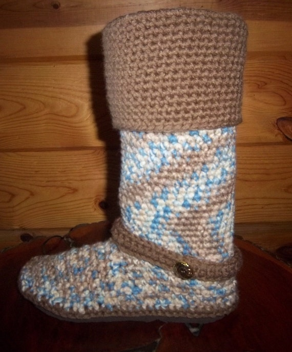 Crochet Boots Pattern--------Cuffed Knee High Boots-----with strap---------Boots for the Street---Instant Download