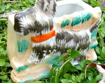 Scotty Dog vintage porcelain made in Japan