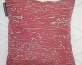 pillow made from vintage Japanese kimono fabric