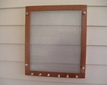 Large Australian lacewood jewelry organizer - fine mesh - sustainable wood - earring holder - earring organizer - woodworking
