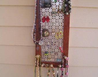 jewelry organizer jewelry holder jewelry storage jewelry display bubinga African wood earring holder necklace holder