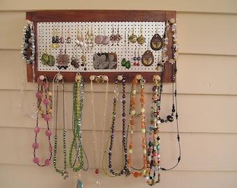 jewelry organizer jewelry holder bubinga African wood earring holder earring storage jewelry storage jewelry display necklace holder wood
