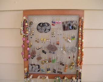 jewelry organizer jewelry holder jewelry display jewelry storage Cuban wood large mahogany