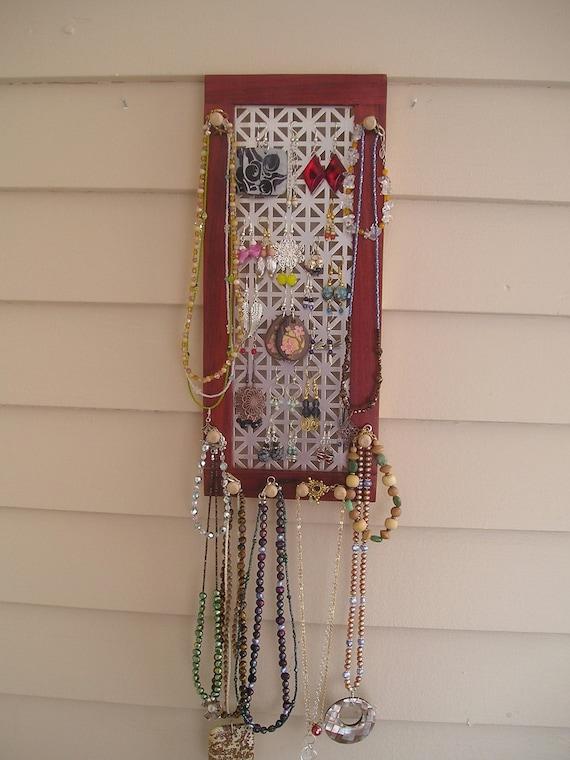 jewelry organizer jewelry holder jewelry storage jewelry display earring organizer vertical paduak