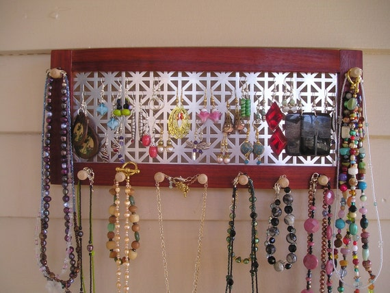 jewelry organizer jewelry holder jewelry display jewelry hanger paduak necklace organizer earring organizer