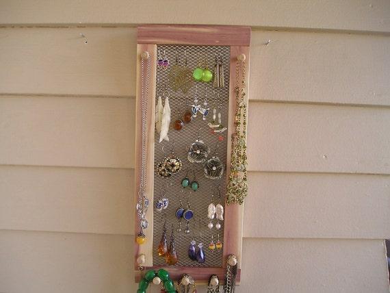 jewelry organizer jewelry holder jewelry display jewelry storage cedar