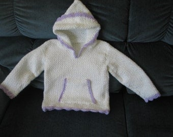 crocheted toddler hooded sweater