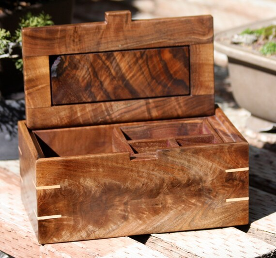 Jewlery Box of Black Walnut and Maple
