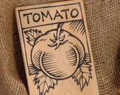 Hand-DRAWN Garden Marker for Tomato