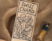 Hand-DRAWN Garden Marker for Swiss Chard
