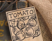 Hand-DRAWN Garden Marker for Cherry Tomatoes