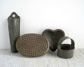Vintage Tin Kitchen Tools Collection - Rustic Farmhouse
