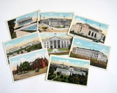 Vintage Postcard Collection - Washington DC - Urban Chic