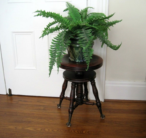 Vintage Piano Stool - Ball and Claw Feet