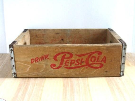 vintage wood pepsi box eBay