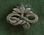 Lotus Pin/  Brooch - sterling silver