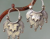 Alhambra ll Earrings - hoop style - sterling silver