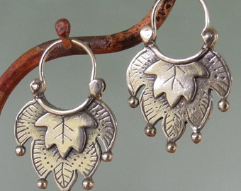 Al-hamra 2 Earrings - hoop style - sterling silver