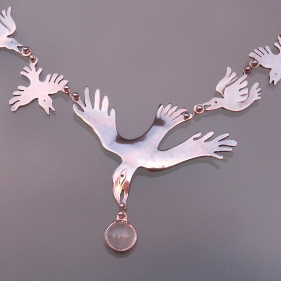 Raven Necklace - sterling silver