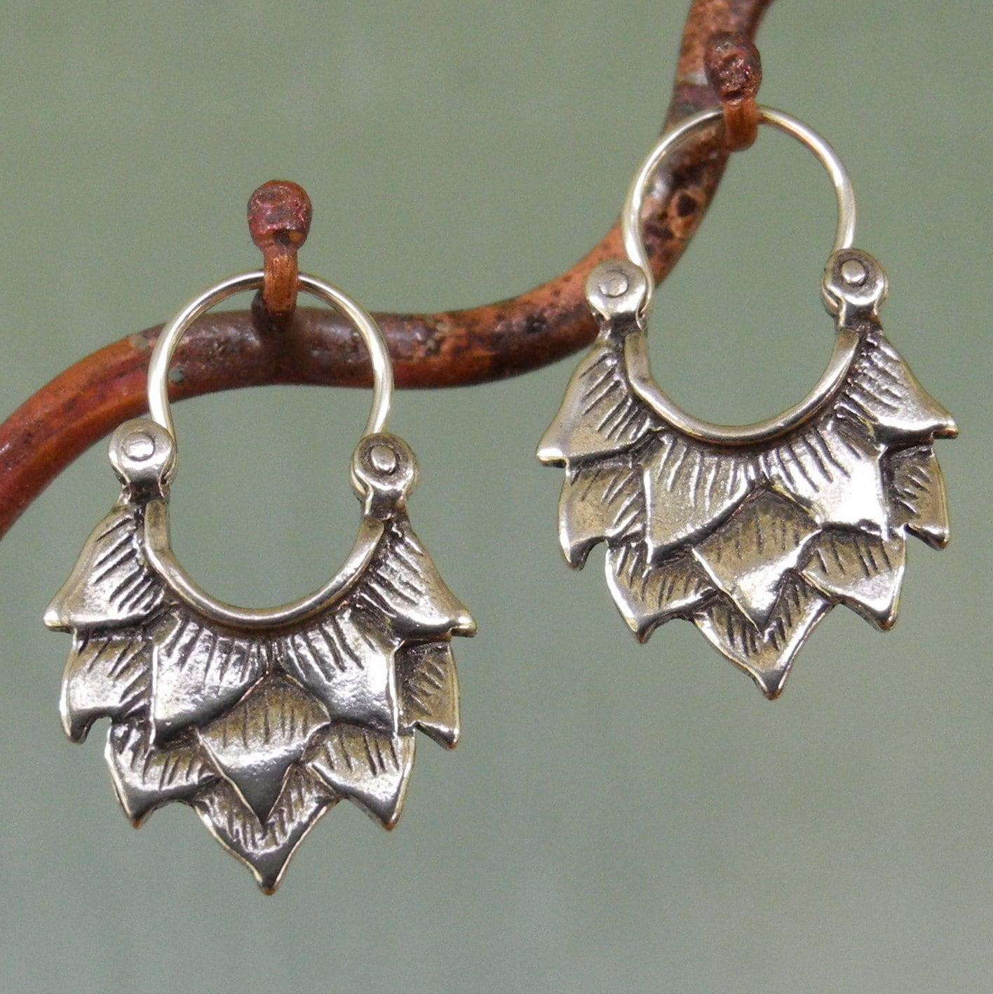lotus earrings very small sterling silver hoop earrings. Black Bedroom Furniture Sets. Home Design Ideas