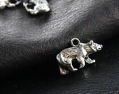 6pcs Oxidized Silver Color Base Metal Bear Charms (Y9384//C140)
