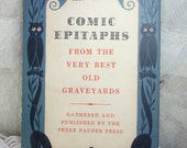 Vintage Book Comic Epitaphs From the Very Best Old Graveyards