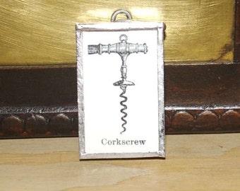 Vintage-inspired steampunk Corkscrew Pendant