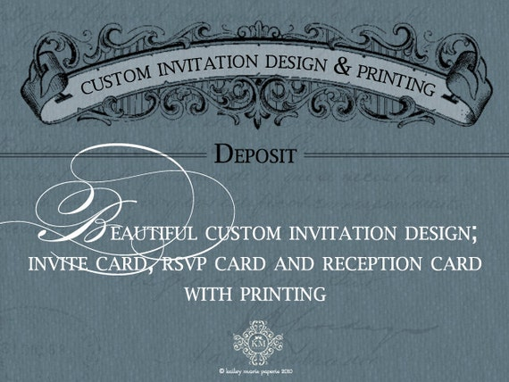 Deposit for Avelina - Custom Invitation Design & Printing Deposit