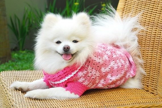 Pink Princess Puppies Medium Dog Sweater Dress D836 - free shipping