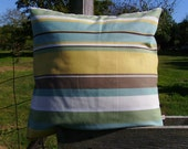 SALE - modern pillow cover - teal pillow cover - stripe cushion cover- mustard pillow cover - stripe pillow cover