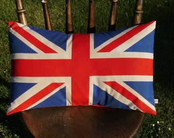 Union Jack pillow cover- lumbar pillow cover- Union Jack - Union Jack cushion cover - UK flag pillow cover- British flag