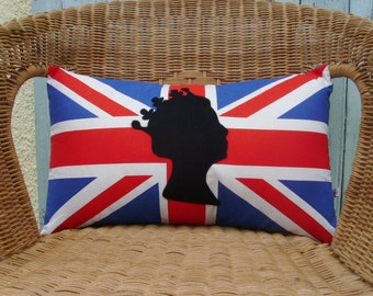 Royal pillow cover- Queen pillow cover- Union Jack pillow cover - UK pillow cover- decorative pillow cover - flag pillow