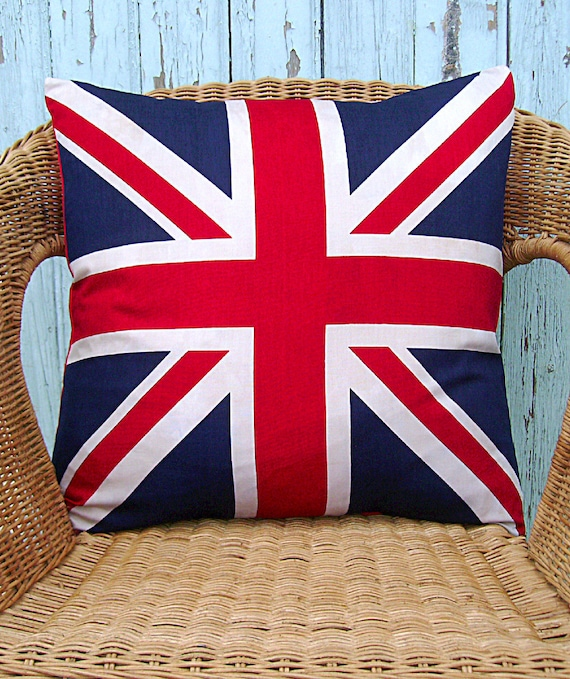 Union Jack pillow cover - British flag pillow cover - UK flag pillow cover- UK pillow cover - flag pillow cover