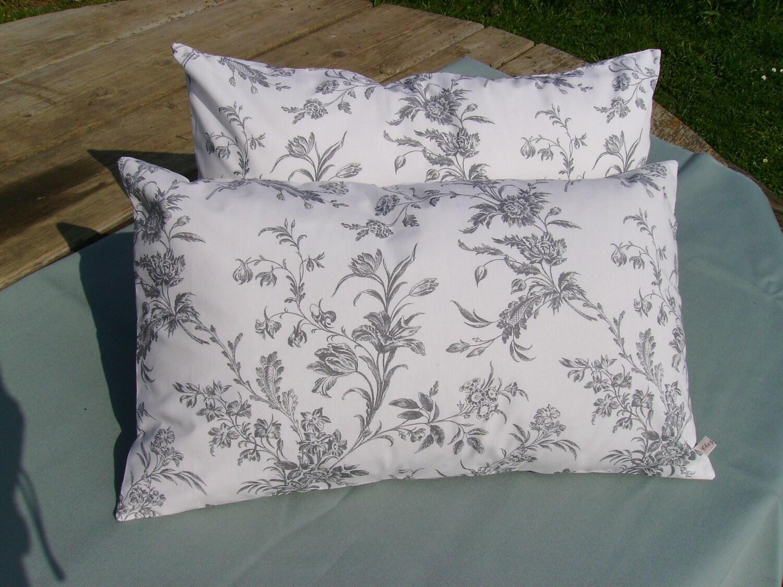 white pillow cover gray pillow floral pillow monochrome. Black Bedroom Furniture Sets. Home Design Ideas