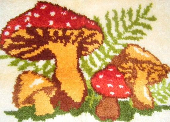 Vintage 70's Retro Mushroom Doormat