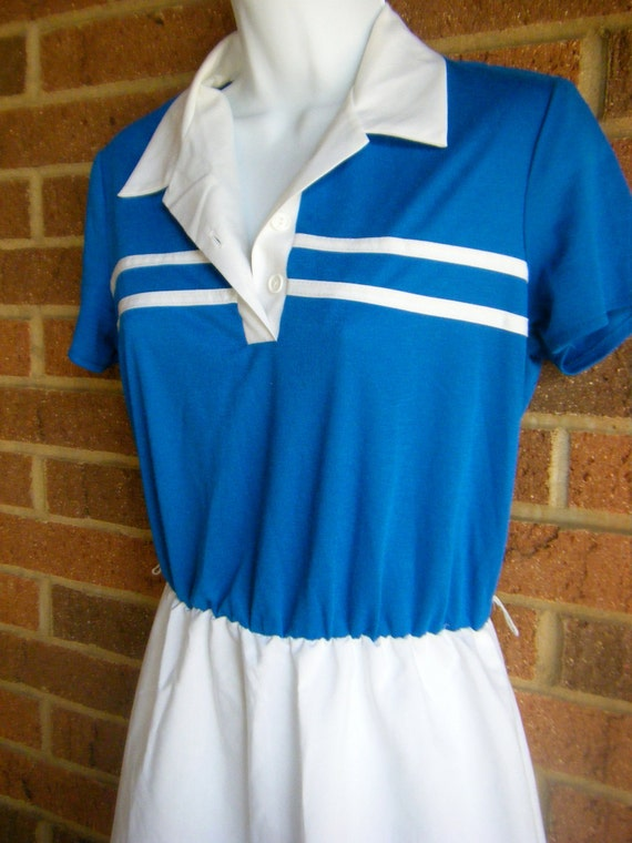 RESERVED 1970s Preppy Hipster Adorable Sporty Country Club Tennis Dress